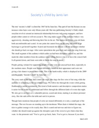 """Analytical Essay """"Society's child"""" by Janis Ian"""