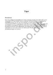 Tiger afsætning | Købsadfærd