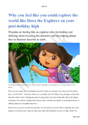 Engelsk Aflevering | Explore the world like Dora the Explorer