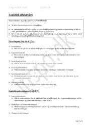 Logistisk Effektivitet Noter: Kapitel 25