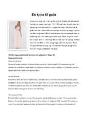 En kjole til galla | Afsætning