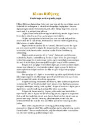 Elske af rifbjerg at analyse klaus 3.g