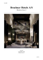 Brøchner Hotels A/S | Business Case 3 – Erhvervscase