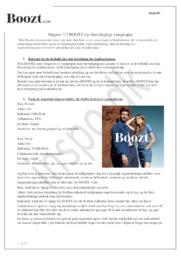 Opgave 7.2 BOOTZ nye bæredygtige varegruppe | Afsætning