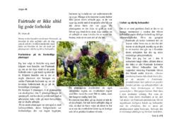 Fairtrade er ikke altid lig gode forholde   Dansk Opgave