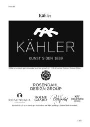 Kähler | Afsætning Opgave