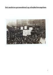Det moderne gennembrud og arbejderbevægelsen   DHO