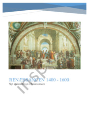 DHO: Renæssancen 1400 – 1600 | Nyt menneskesyn