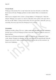 Wolfgang war nicht zu Hause | Wolfgang var ikke hjemme | Tysk Oversættelsesopgave
