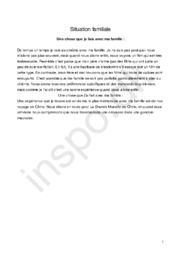 Fransk opgave | Situation familiale | Une chose que je fais avec ma famille