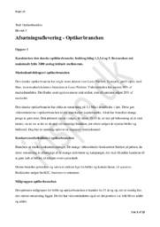 Optikerbranchen   Afsætningsaflevering