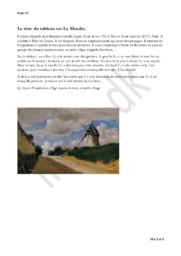 Le titre du tableau est Le Moulin   Fransk Opgave