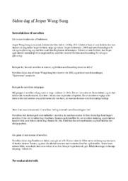 Sidste dag af Jesper Wung-Sung – Analyse
