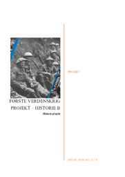 Første verdenskrig projekt – Historie