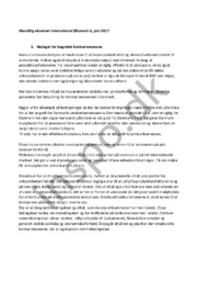 Mundtlig eksamen International Økonomi A, juni 2017